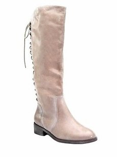 Joie Grey Leather Tall Slow Ride Leather Zip 20608f Elephant grey Boots
