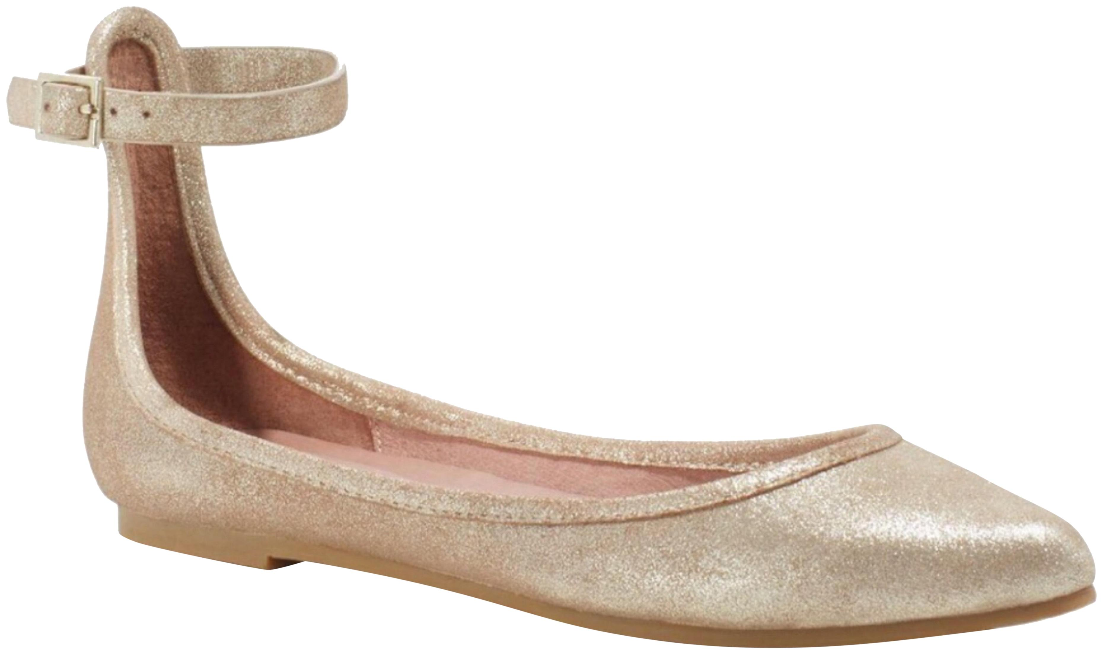 f84474bd2 Joie Joie Joie Gold Temple Metallic Shimmer Ankle Strap Flats Size US 9.5  Regular (M