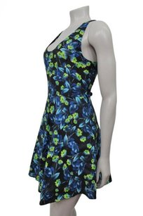 Joie short dress Black Sleeveless Floral Fit Flare Silk Blend on Tradesy