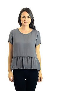 Joie Keannate 100 Silk Top Gray