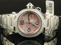 JoJino Lady Jojinojojojoe Rodeo Pink Big Genuine Diamond Watch Mj1050