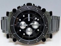JoJino Mens Jojojojinojoe Rodeo Black Metal Genuine Real 25 Diamond Watch