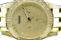 JoJino Mens Yellow Tone Jojino Joe Rodeo 0.25 Ct. Diamond Illusion Dial Watch Ij1122