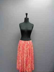 Jones New York Collection Coral W Lining Polyester Sm2718 Skirt Coral Beige
