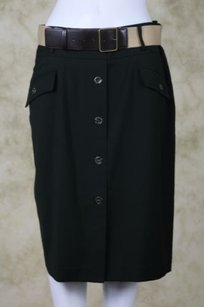 Jones New York Ny Signature Womens Skirt Dark Green