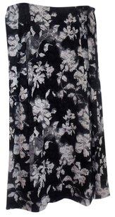 Jones New York Black And White Allover Lace Skirt Black/white/grey