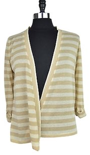 Jones New York 40 76 Brown Striped Cardigan Size Sweater