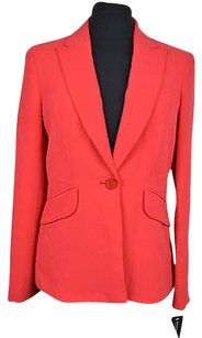 Jones New York 10 11 Jones York Womens Grenadine Pink One Button Blazer