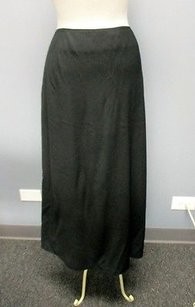 Jones New York Rayon Solid Lined Side Zip Casual Long 3549 A Maxi Skirt Black
