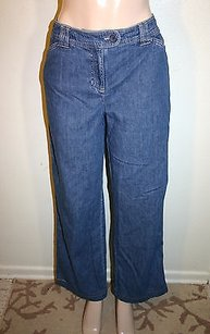 Jones New York Sport Womens Blue Straight Leg Jeans