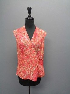 Jones New York Collection Sleeveless Polyester Sm2720 Top Coral