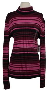 Jones New York Womens Striped Sweater
