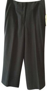 Jones New York Wool Lined Straight Pants Black