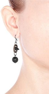 Joomi Lim Joomi Lim Dynamic Duo Sphere And Spike Earrings Black Peach Gunmetal