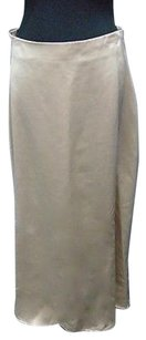 JS Collections Js Polyester Lined Full Length A Line 2592a Skirt Beige