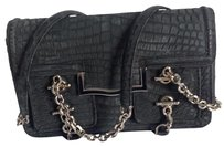 Judith Leiber Alligator Suede Shoulder Bag