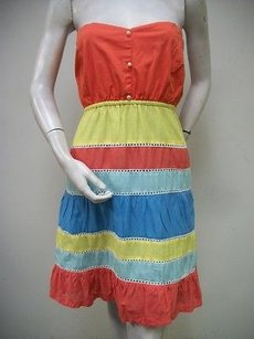 Judith March short dress Multi-Color Strapless Cotton Blend on Tradesy