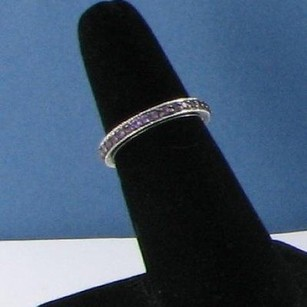 Judith Ripka Judith Ripka Amethyst Pave Band Stack Ring Sterling Silver