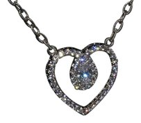 Judith Ripka Judith Ripka Sterling Diamonique Heart Necklace
