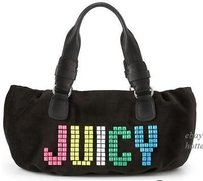 Juicy Couture Stud Etiquette Satchel Handbag Tote in Blacks