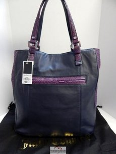 Juicy Couture Minky Navy Blue Tote in Multi-Color