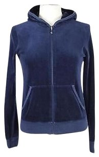Juicy Couture Womens Basic Cotton Coat Long Sleeve Navy Jacket