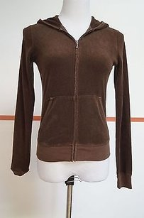 Juicy Couture Cotton Long Sleeve Full Zip Terry Jacket 15843 Sweatshirt