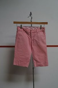 Juicy Couture Flat Front Side Pocket Bermuda 25 14892 Shorts Pink