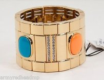 Juicy Couture Juicy Couture Gold Cabochon Crystal Stretch Cuff Bracelet