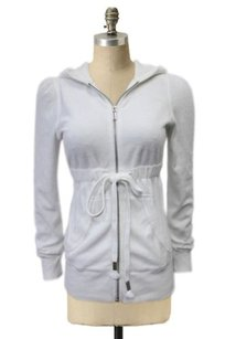 Juicy Couture Juicy Couture Hoody White Terry Cloth Jacket Hooded
