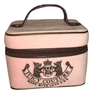 Juicy Couture Juicy Couture Pink and Brown Cosmetic Box/Bag with J & heart zippers