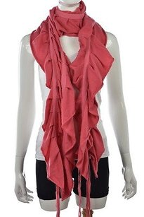 Juicy Couture Juicy Couture Womens Coral Pink Scarf One Wool Knit Casual