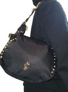 Juicy Couture Nylon Leather Studded Shoulder Bag