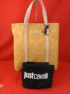 Just Cavalli Shoppers Tote in Beige