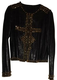 Just Cavalli Black And Gold Jacket