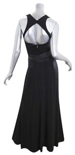 Black Maxi Dress by Just Cavalli Womens Stretch Fitted Sleeveless Racerback Long