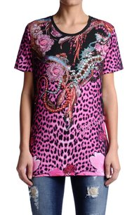 Just Cavalli Womens Graphic T Shirt Multi-Color