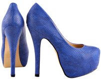 JustFab Blue Platforms