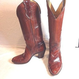 Justin Boot Co Eel Skin Brown Boots