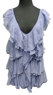 Karen Kane Light Silk Top Blue