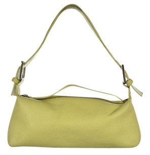 Karen Millen Womens Leather Textured Handbag Baguette