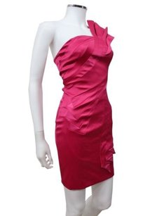 Karen Millen England Stretch Satin Peplum In Dress