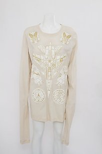 Karen Walker short dress Ivory White Cream Knit Textured Skull Tunic Sweater on Tradesy