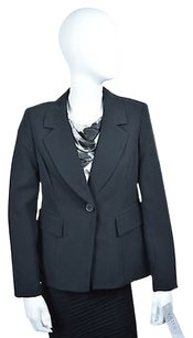 Kasper Kasper Separates Womens Black One Button Blazer Size Msrp