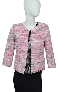Kasper Kasper Separates Womens Pink Black And White Blazer Size 2p Msrp