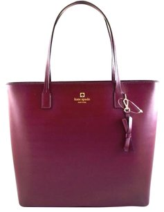 Kate Spade Leather Tori Tote in Red