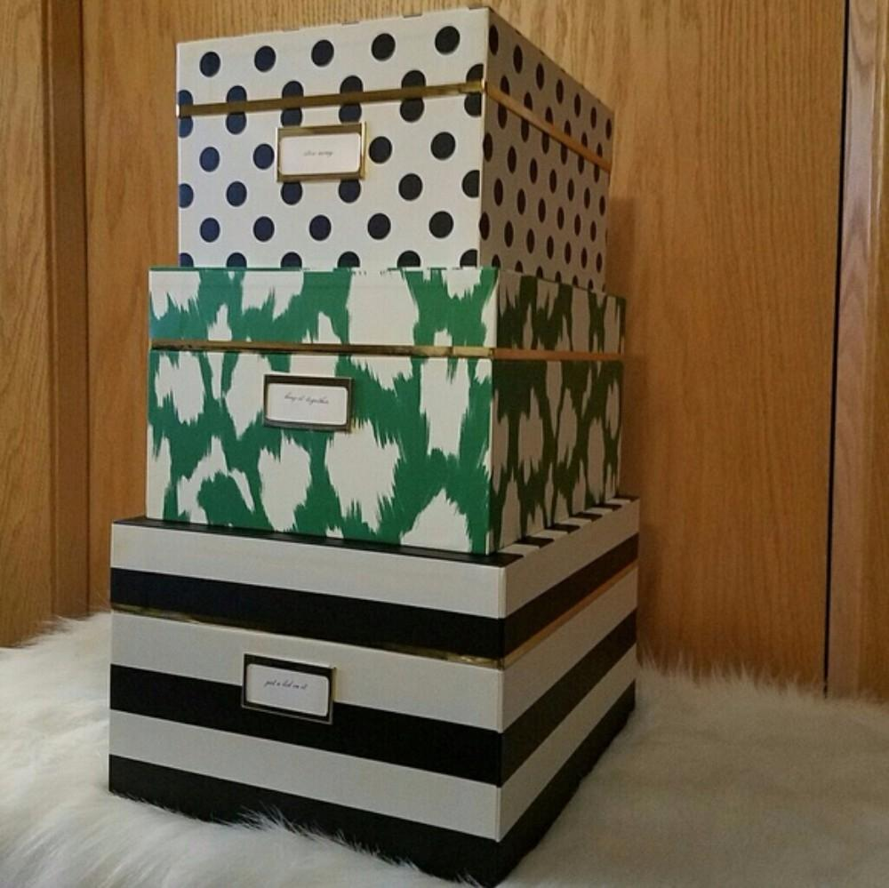 Kate Spade KATE SPADE NEW YORK Storage Nesting Boxes IKAT. 123