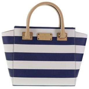 Kate Spade Blue Crossbody Tote in Cream and Navy Stripe