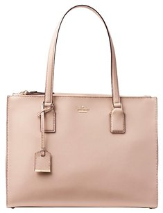 Kate Spade Leather Handbag Satchel in Toasted Wheat