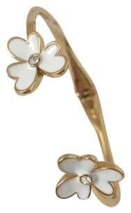 Kate Spade Ceramic flower with diamond gold bangle